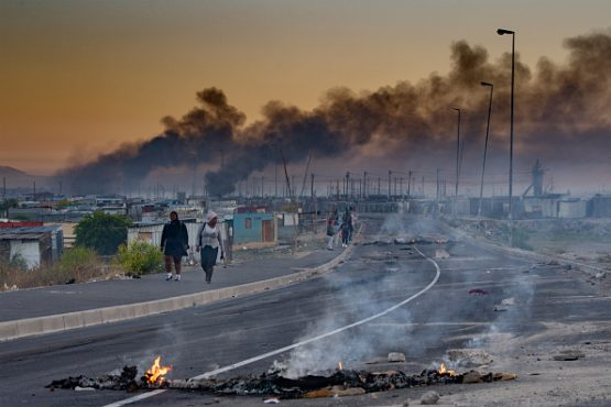 Delft after protests against the local government. One of South Africa's first social impact bonds funded a project in the town. Image: Jaco Marais/Gallo Images via Getty Images