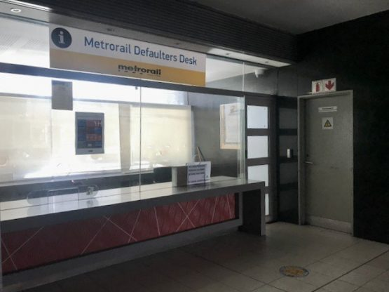Last week Thursday, no one was staffing the defaulters' desk at Cape Town's main train station. Photo: Tariro Washinyira