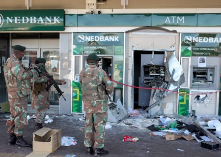 SA banks count cost of replacing ATMs looted during unrest
