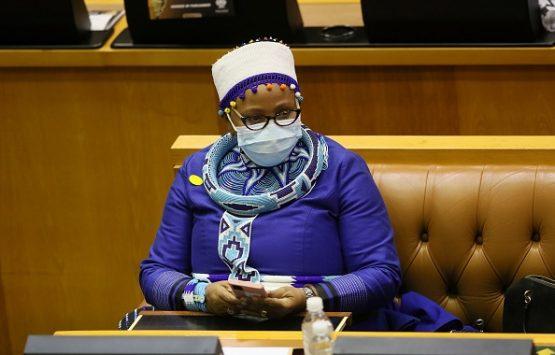 South Africa's controversial new Speaker of Parliament, Nosiviwe Mapisa-Nqakula.  Image: Ruvan Boshoff/Xinhua via Getty Images