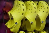 Crocs rises to record on forecast for doubling sales by 2026