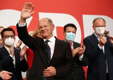 Social democrats' narrow win over Merkel's bloc leaves German government in limbo
