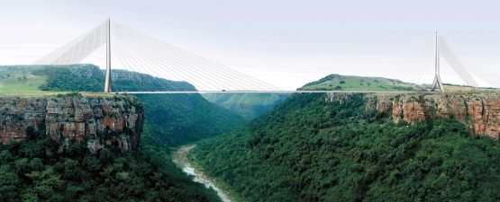 An artist's impression of the iconic new Msikaba Bridge that's being built as part of the N2 Wild Coast toll road project. Image: Supplied