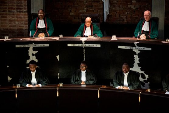 Chief Justice Mogoeng Mogoeng presiding at South Africa's Constitutional Court in 2017. Image: Gulshan Khan/AFP via Getty Images