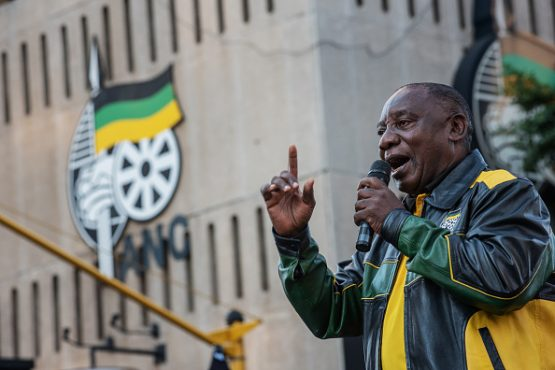 South African president and leader of the ruling ANC Cyril Ramaphosa. Image: Michele Spatari/NurPhoto via Getty Images