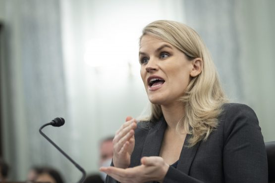 Frances Haugen, Facebook whistle-blower, speaks during a Senate Commerce, Science and Transportation Subcommittee hearing in Washington, D.C., US, on October 5, 2021. Image: Bloomberg