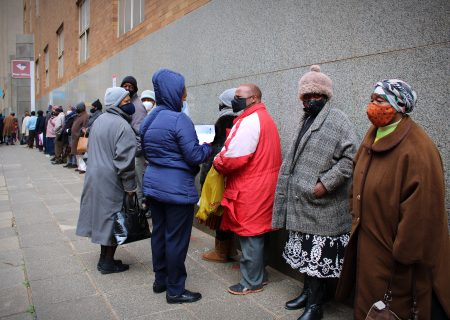 Grant beneficiaries pay R100 of their R350 to be in front
