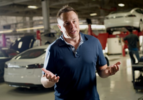 Elon Musk, co-founder and chief executive of Tesla