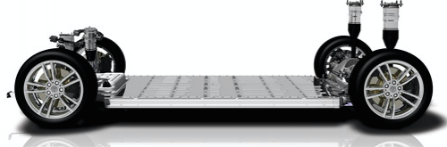 The Battery Box Base Plate manufactured at Hulamin's plant in Pietermaritzburg.